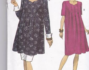 Vogue 8645 Maternity Pattern - Tunic Dress, Tunic Top and Skirt Size 8,10