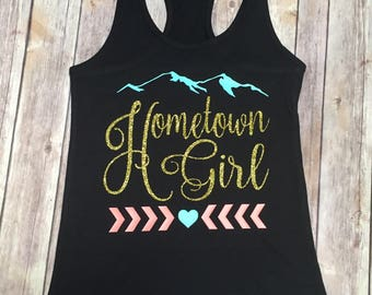 Hometown Girl Tank - Country Tank- Small Town Girl
