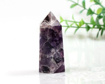 Beautiful Chevron Banded Amethyst Crystal Point Reiki Healing#888