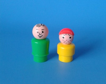 "Fisher Price Little People "" Man & Boy "" 1970's"
