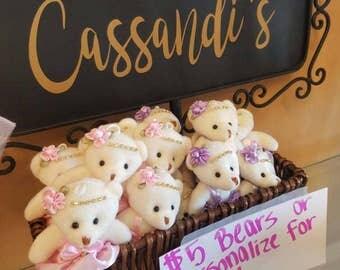 Teenie Stuffed Bears, Customizable Bears, Easter Basket Stuffers