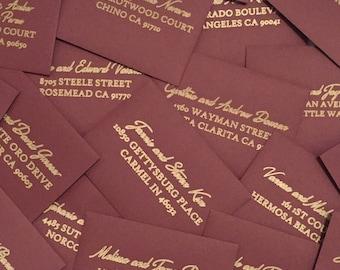 Custom Calligraphy Envelopes