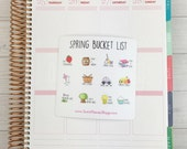 Itty Bitty Kawaii Spring Bucket List Stickers