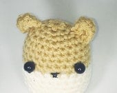 Plush amigurumi hamster stuffed toy