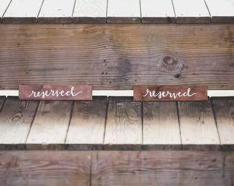 Wedding Reserved Seating Signs Small