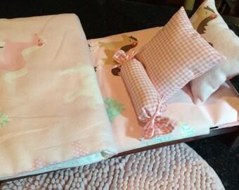 Bitty Baby, AG, Journey Girls, American Girl doll bedding, Baby Alive, baby doll bedding, toddler girl birthday gift, Baby Newborn, horses