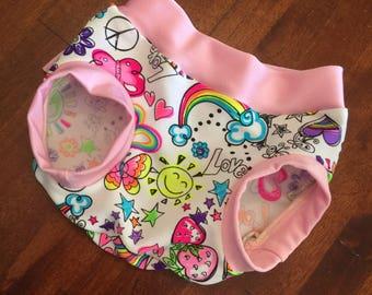 Rainbow Bubba Baby Pants 'Hippy Love' in Size 00