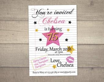 invitations 15th birthday party