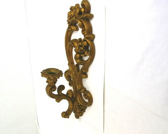1971 Homco Wall Decor Vintage Sconce Candle Holder 4118