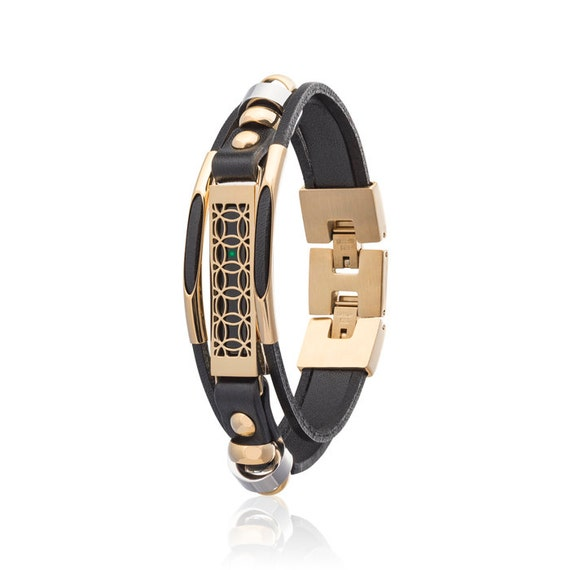 Bracelet Hyde made for Fitbit Flex 2 - Black/Gold