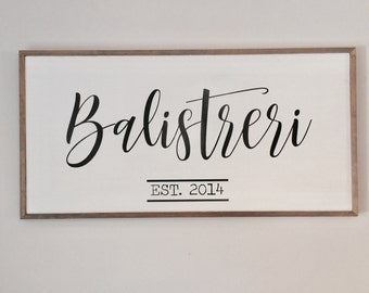 Personalized Family Framed Wood Sign