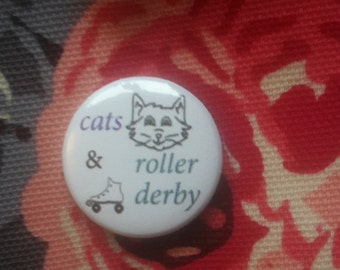 Roller Derby & Cats Badge