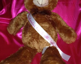 "SASH custom 36""  doll or bear sash  full wrap 1 1/2 wide"
