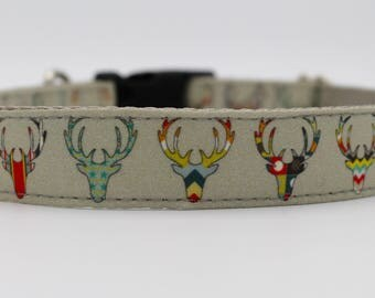 Hipster Deer Dog Collar
