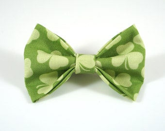 Greens. Shamrock Bow. Baby Photo Prop. Toddler Barrette. St Patricks Bow. Toddler Hair Bow. Baby Hair Clip. Toddler Hair Clip.