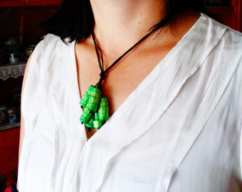Necklace Cluster Paper Tube Beads