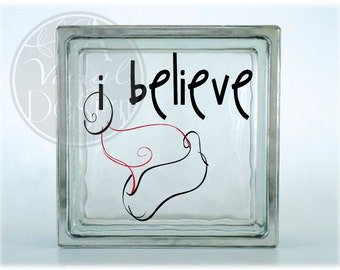 I Believe / Santa Hat Vinyl Decal
