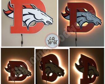 Denver Broncos old school/new school mixed