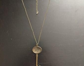 Custom Brass Key Pendant Necklace