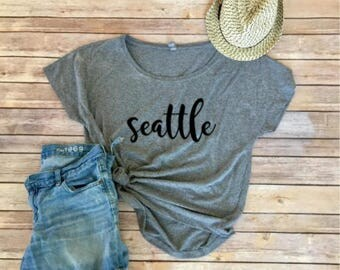 Seattle Dolman - Women's Shirt -PNW shirt - Washington - Gift for Women - Triblend Tee - Gift for Mom - Seattle Lovers - Gift for Her