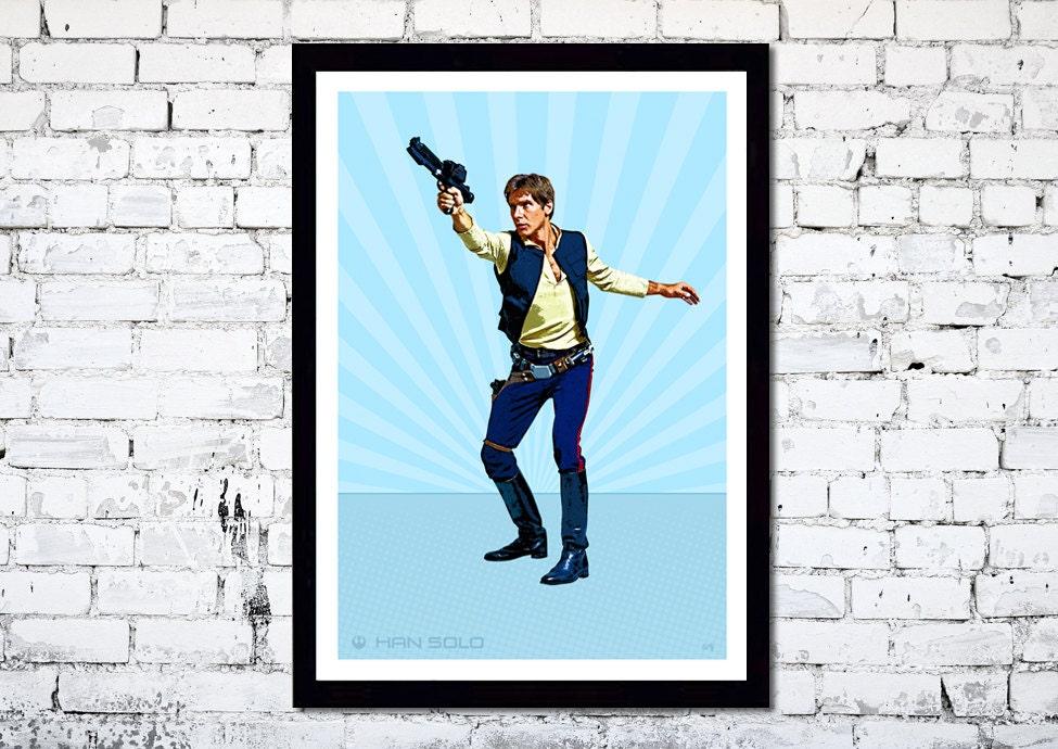 Han Solo // Star Wars // Comic Book Effect // Unique A4 / A3 Art Print