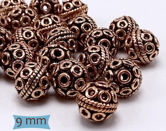 Rope and Coil Copper Spacer Beads--10 Pcs | 27-CM258-10