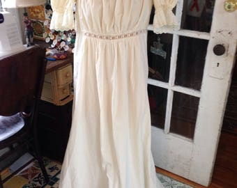 Edwardian ivory cotton nightgown