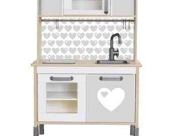 """Play kitchen sticker set """"byGraziela"""": Suitable for Ikea DUKTIG toy kitchen (1W-SK09-03) - Toddler gift - Ikea hack - Furniture not included"""