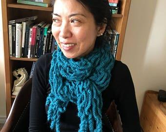 Crochet PATTERN Scarf PDF, Womens Crochet Scarf Pattern / Tutorial, Crochet Scarf Pattern Women, Digital Download, Warm Scarf for Women, DIY
