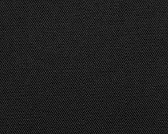 Bull Denim Fabric, color black, sold by the yard, Free Shipping in USA,