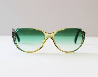 Christian Dior Vintage Blue and Clear Sunglasses