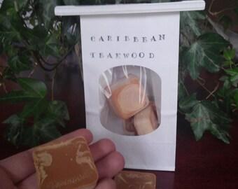 4oz!! soy wax melts, tarts,  Caribbean Teakwood, cubes