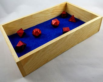 Ash Dice Tray for Dice Games, Board Gaming, Tabletop Gaming, DND, Pathfinder, RPG, D20