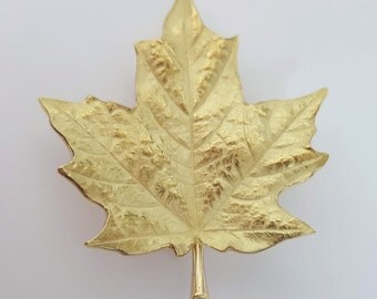 Tiffany & Company 18K Yellow Gold Maple Leaf Brooch/Pendant