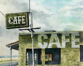 "Print of Lynn Wilkerson's ""Cafe"""