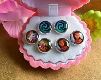 Disney Moana Earrings In Velvet Jewellery Gift Box!
