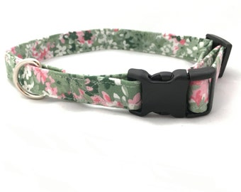 Pink Floral Easter Dog Collar - Preppy Summer dog collar - Dog Collar for Girls - Girl Dog Collar - Stylish Dog Collar - Fancy Dog Collar