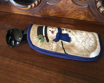 Eyeglass case, christmas eyeglass case, sunglasses case, christmas gift, holiday glasses case
