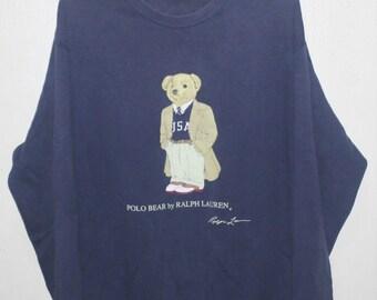 Vintage Ralph Lauren Polo Bear Executive Sweatshirt