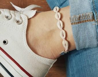 Lucky Shells Anklet/Bracelet, Blush