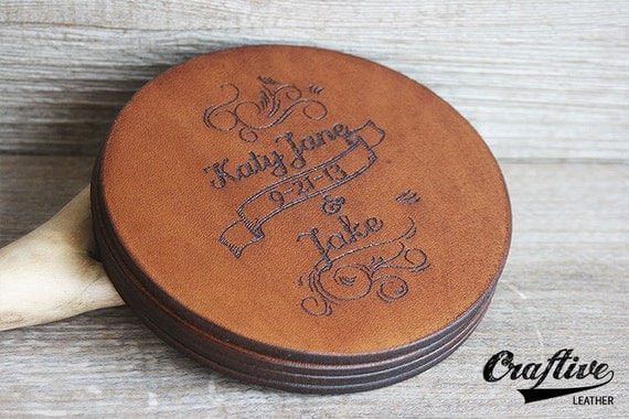 3rd Wedding Anniversary Leather Gifts: 3rd Anniversary Leather Anniversary Gift By CraftiveLeather