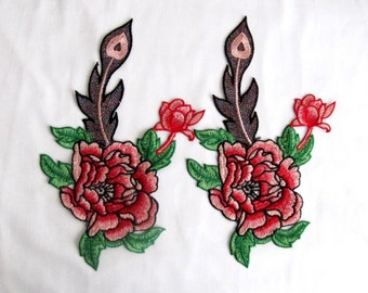 Clove Flower Patch/Red Clove Applique/sew On Patches/