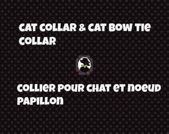 cat bow tie collar,cat  collar, collar elastic, cat accessories, cat collar, cat collar