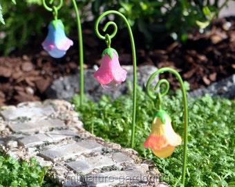 Glow Flowers, 3 Piece Set for Miniature Garden, Fairy Garden