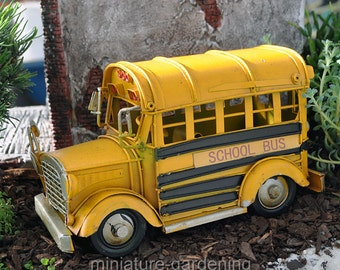 School Bus for Miniature Garden, Fairy Garden