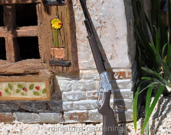 Metal Rifle for Miniature Garden, Fairy Garden