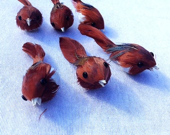Set Of 6 Brown Birds 3 Inches Scrapbooking Embellishments Cake Topper