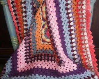 Crocheted baby blanket, granny rectangle
