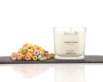 Fruity cereal, soy candle