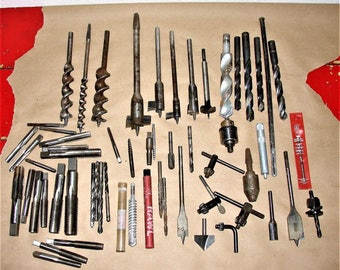 Lot Drill BIts Great Crafts, Woodworking & Metalworking Projects